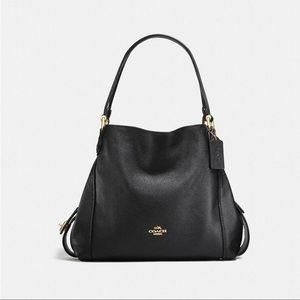 COACH Edie 31 Leather Shoulder Bag